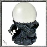 Dragon Beauty Crystal Ball and Holder Anne Stokes Luna Lakota Nemesis Now